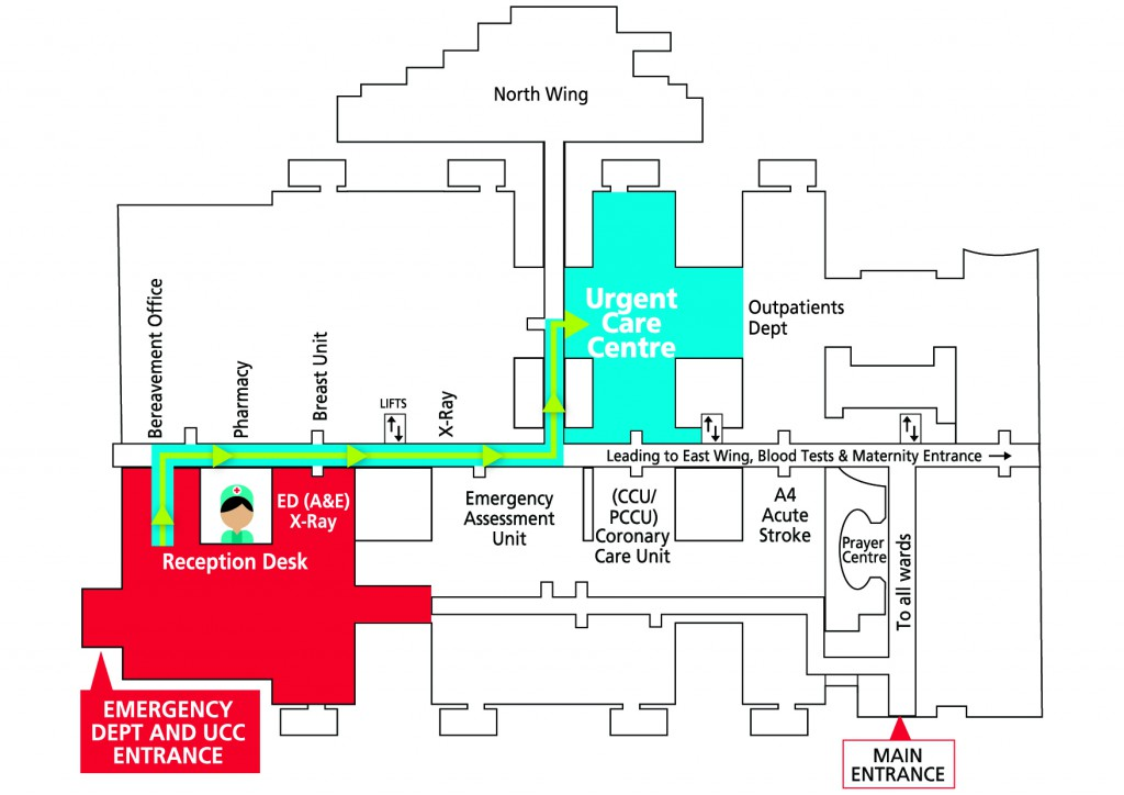 Russells Hall UCC and ED Map