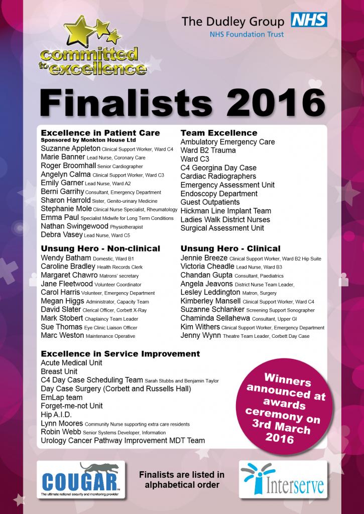 Finalists 2016