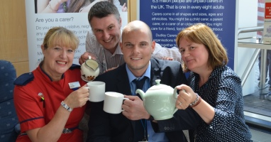 Pop-up living room helps to identify carers