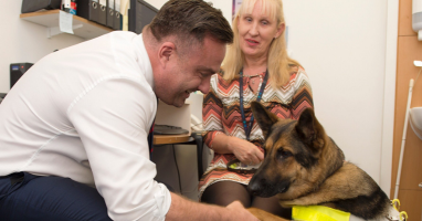 The Dudley Group welcomes Guide Dog Tim