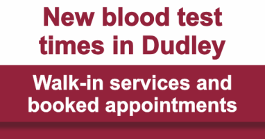 More choice for blood tests in Dudley