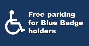 Free parking for Blue Badge holders