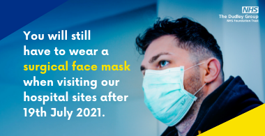 You must continue to wear face coverings in healthcare settings